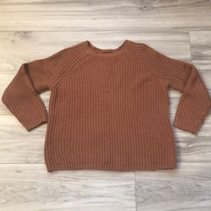 Burnt Red Knit Sweater